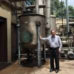 Amrut Master Distiller shows off the retired equipment